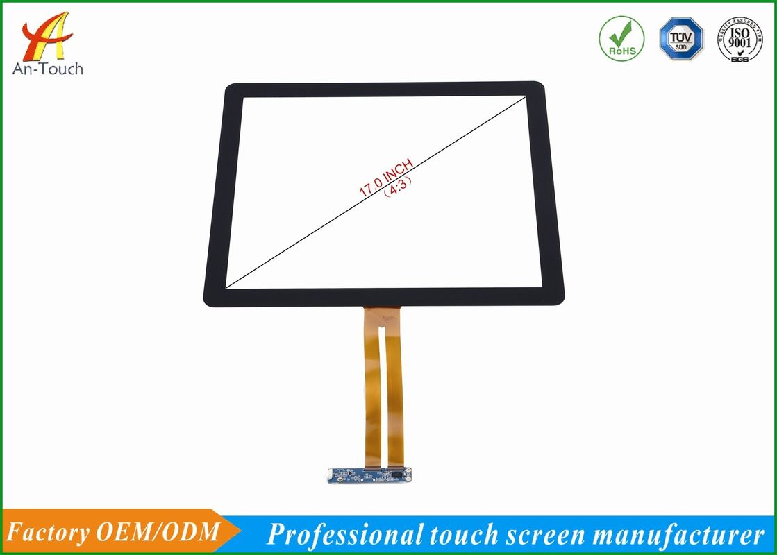 10 Point Game Touch Screen , 17 Inch Android Usb Touchscreen Panel For Kiosk Machine