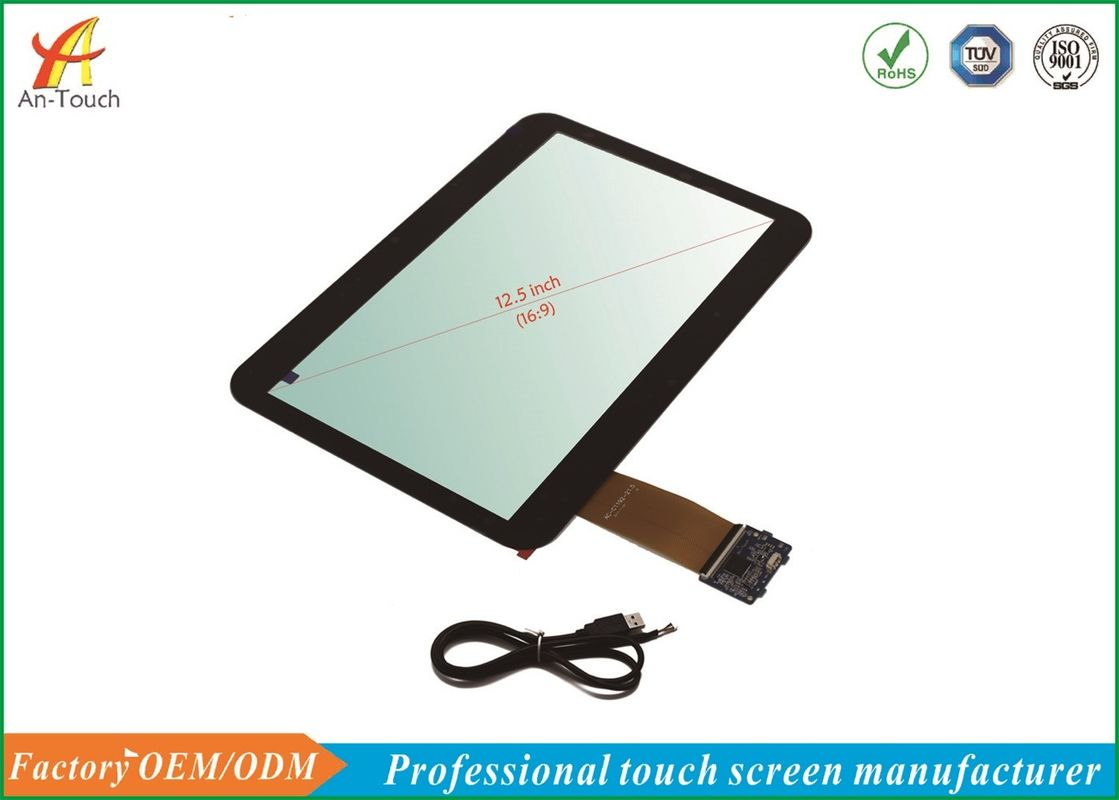 USB POS Touch Panel , 12.5 Inch ATM Machine Touch Screen For Touch Monitor